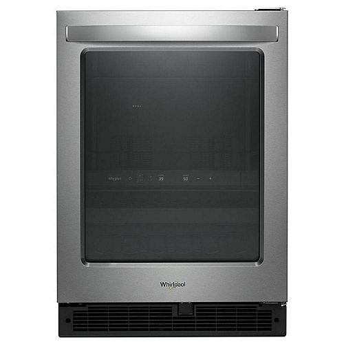 24-inch W 5.2 cu. ft. Beverage Fridge in Fingerprint Resistant Stainless Steel - Reversible Door Swing