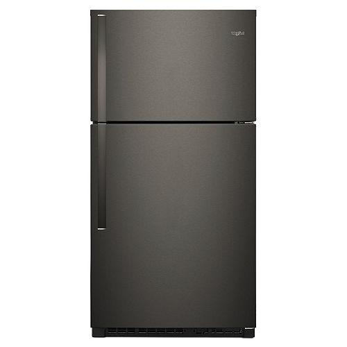 Whirlpool 33-inch W 21.3 cu. ft. Top Freezer Refrigerator in Black Stainless Steel - ENERGY STAR®