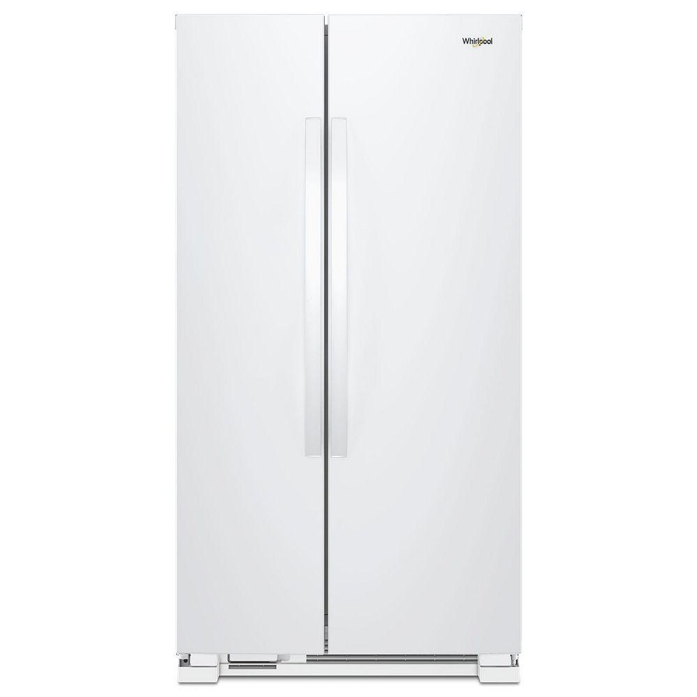 Whirlpool 36-inch W 25 cu.ft. Side By Side Refrigerator in White