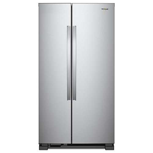 36-inch W 25 cu.ft. Side By Side Refrigerator in Stainless Steel