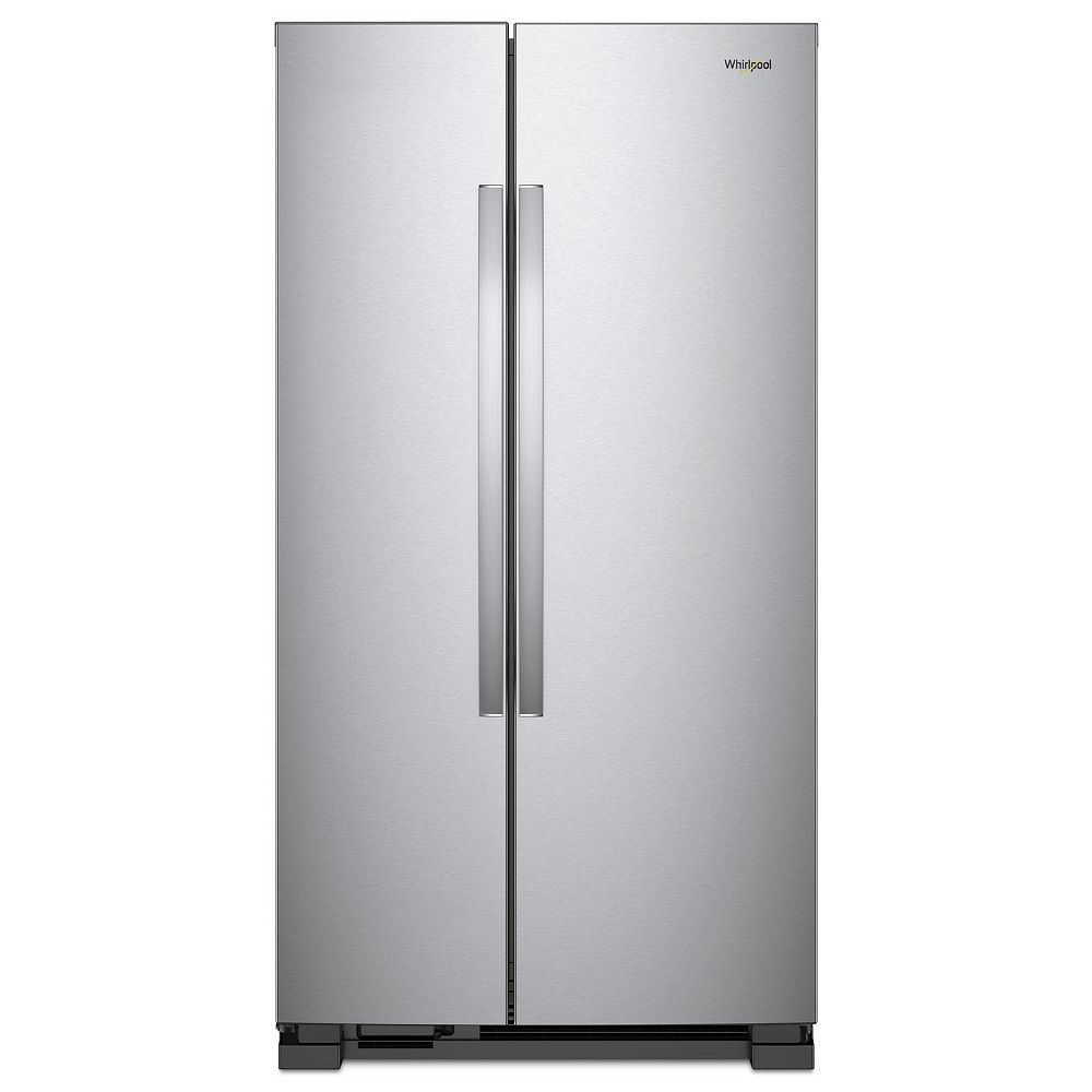 Whirlpool 36-inch W 25 cu.ft. Side By Side Refrigerator in Stainless Steel