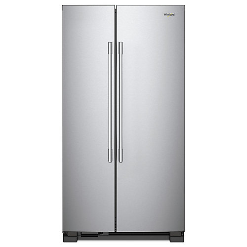 Réfrigérateur de 36 po W 25 pi3 côte à côte en acier inoxydable résistant aux empreintes digitales
