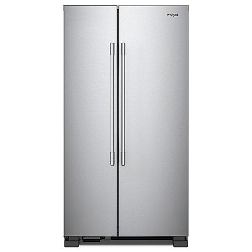 36-inch W 25 cu ft Side by Side Refrigerator in Fingerprint Resistant Stainless Steel