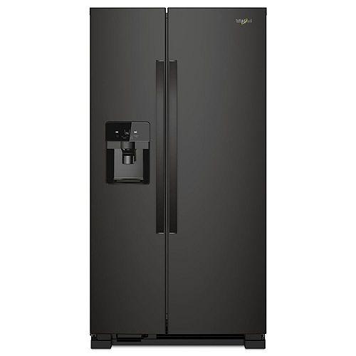 33-inch W 21 cu. ft. Side by Side Refrigerator in Black