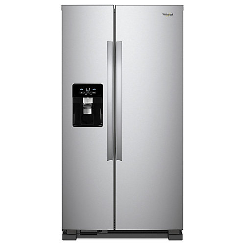 33-inch W 21 cu. ft. Side by Side Refrigerator in Fingerprint Resistant Stainless Steel