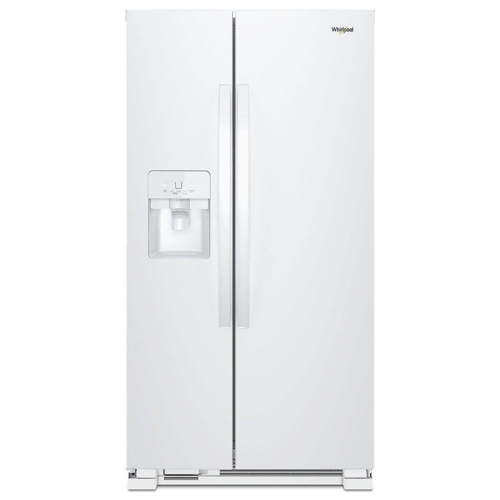Whirlpool 36-inch W 25 cu. ft. Side by Side Refrigerator in White