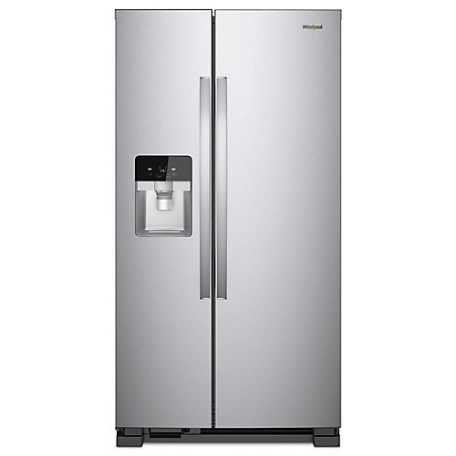 36-inch W 25 cu. ft. Side by Side Refrigerator in Fingerprint Resistant Stainless Steel