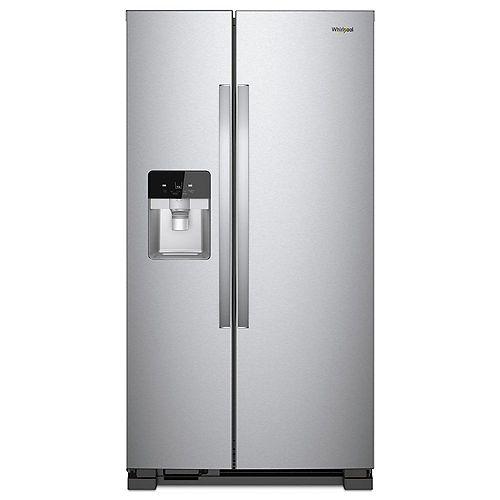 36-inch W 25 cu. ft. Side by Side Refrigerator in Fingerprint Resistant Stainless Steel