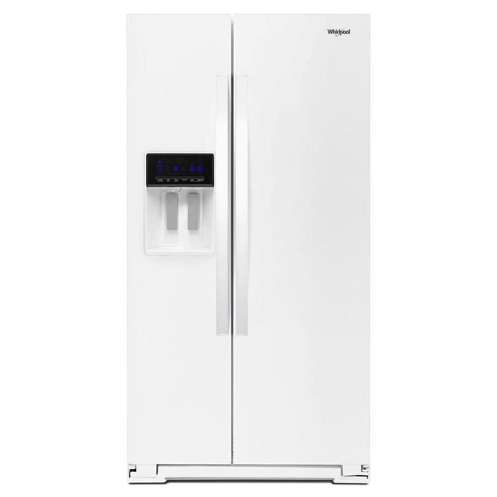 Whirlpool 36-inch W 28 cu. ft. Side by Side Refrigerator in White