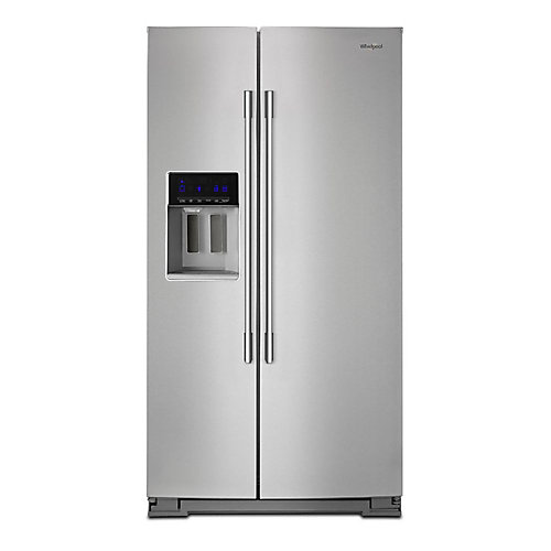 36-inch W 28 cu. ft. Side by Side Refrigerator in Fingerprint Resistant Stainless Steel