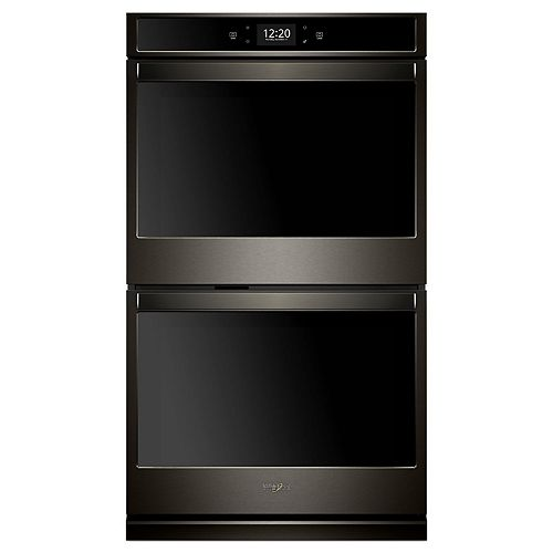 30-inch 10 cu. ft. Smart Double Electric Wall Oven with Convection in Fingerprint Resistant Black Stainless Steel