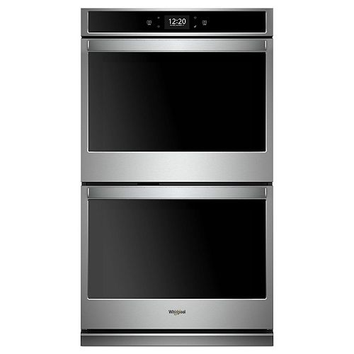 27-inch 8.6 cu. ft. Smart Double Electric Wall Oven Self-Cleaning with Convection in Stainless Steel