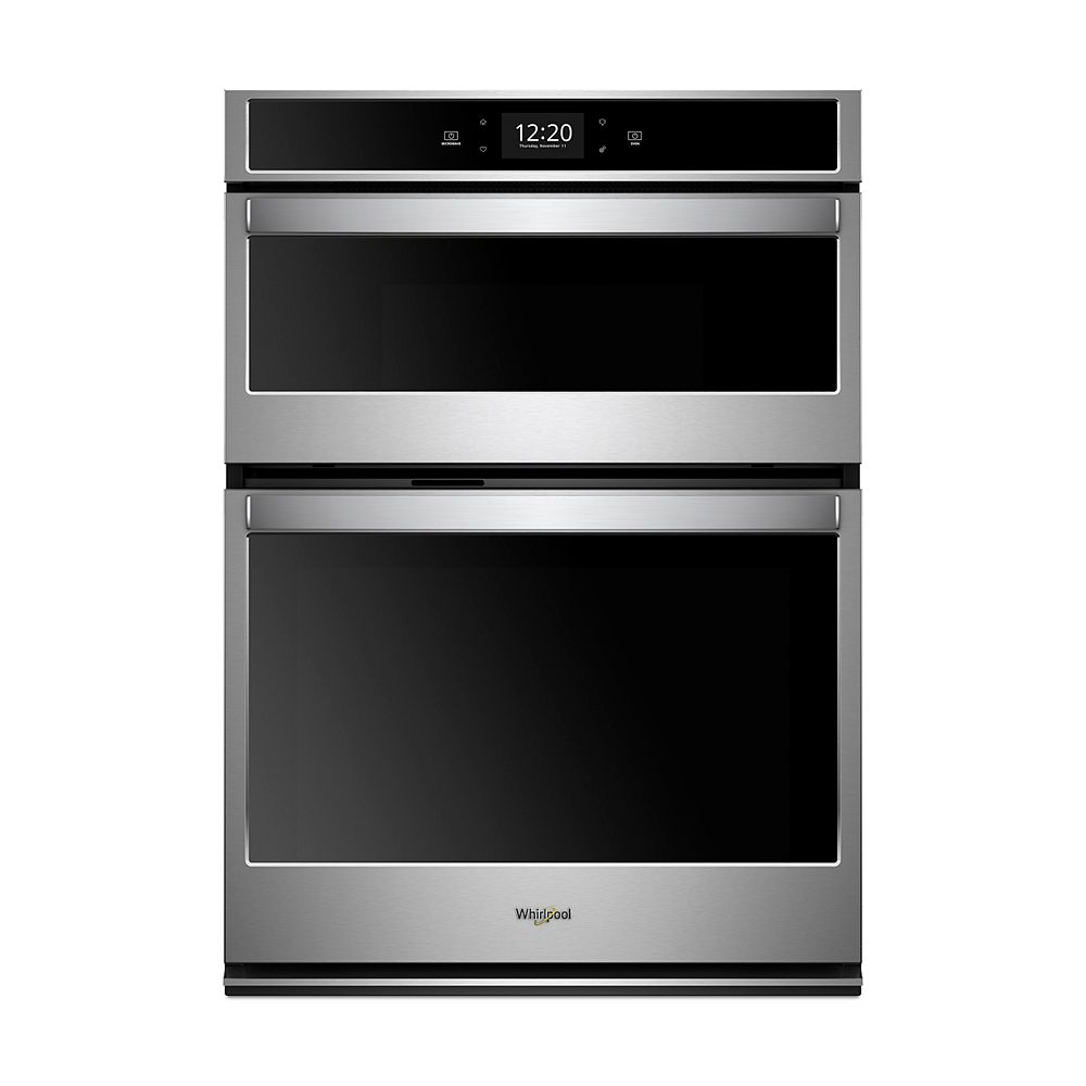 Whirlpool 30-inch 6.4 cu. ft. Smart Double Wall Oven & Microwave with Touchscreen in Stainless Steel