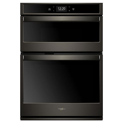 30-inch 6.4 cu. ft. Smart Double Wall Oven & Microwave with Touchscreen in Fingerprint Resistant Black Stainless Steel