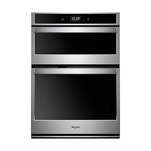 27-inch 5.7 cu. ft. Smart Double Wall Oven & Microwave with Touchscreen in Stainless Steel