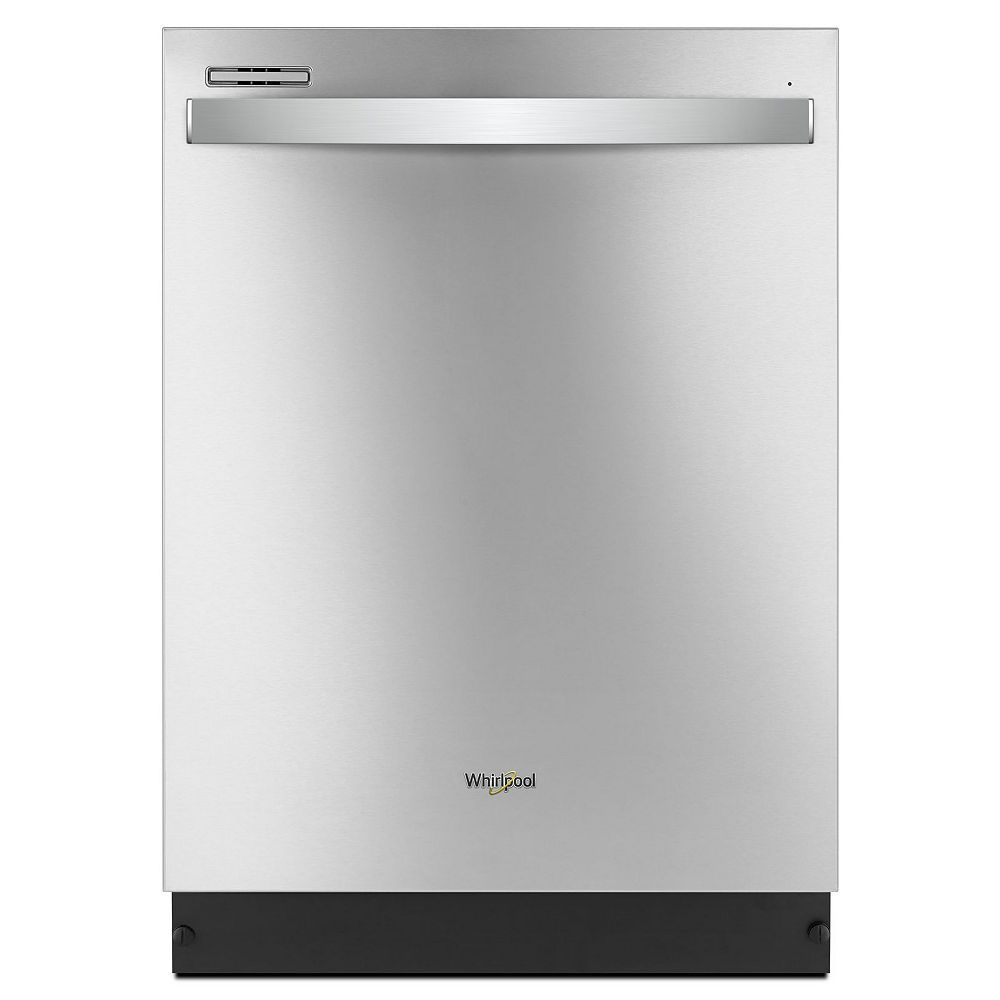 Whirlpool Top Control Dishwasher in Stainless Steel with Plastic Tub, 51 dBA- ENERGY STAR®
