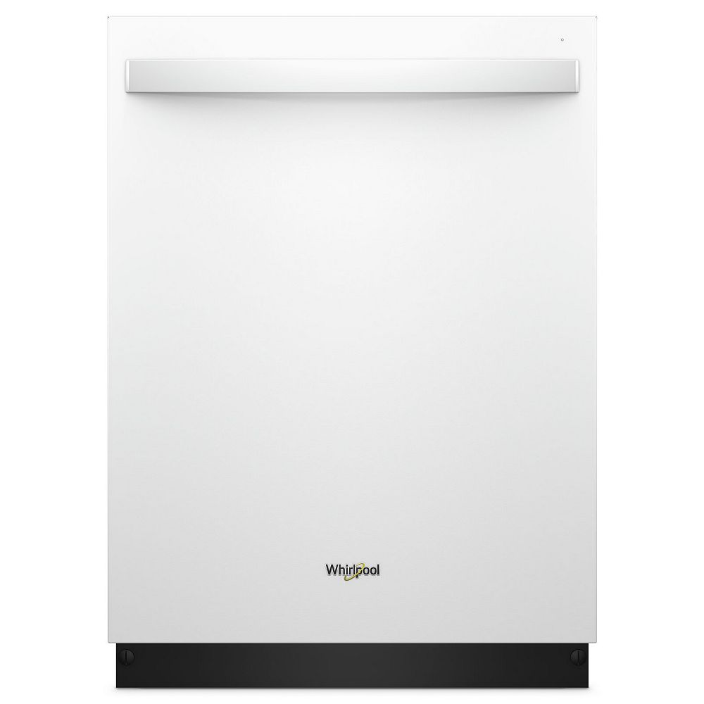 Whirlpool Top Control Dishwasher in White with Stainless Steel Tub, 47 dBA - ENERGY STAR®