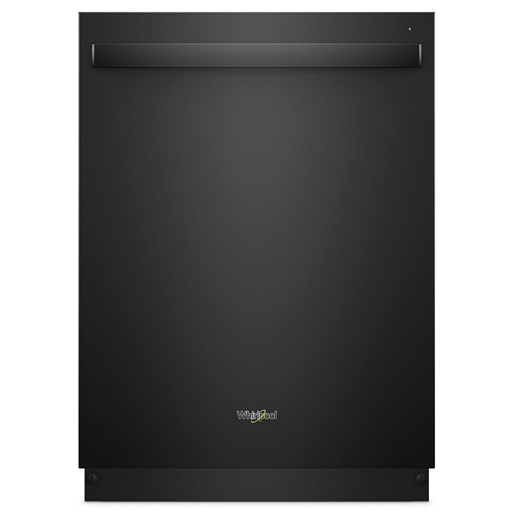 Whirlpool Top Control Dishwasher in Black with Stainless Steel Tub, 47 dBA - ENERGY STAR®