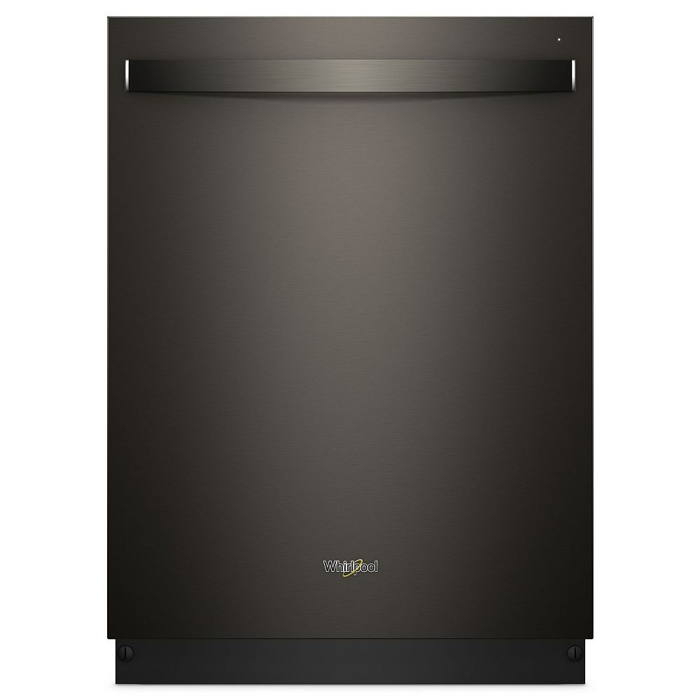 Whirlpool Top Control Dishwasher in Black Stainless Steel with Stainless Steel Tub, 47 dBA - ENERGY STAR®