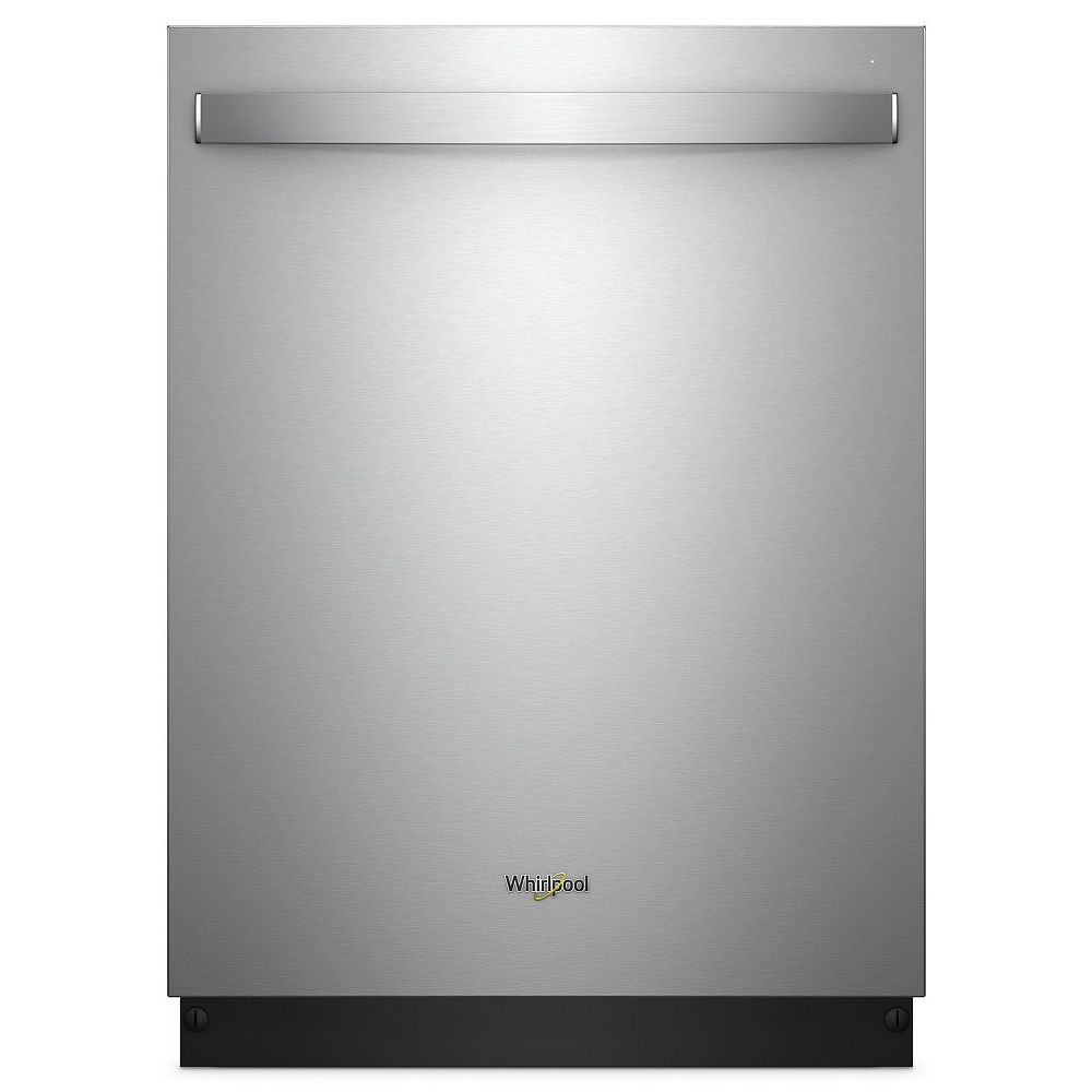 Whirlpool Top Control Dishwasher in Stainless Steel with Stainless Steel Tub, 47 dBA - ENERGY STAR®