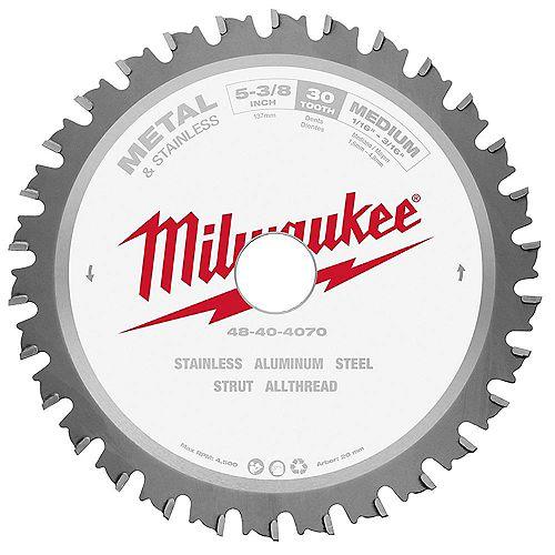 Milwaukee Tool 5-3/8-inch X 30 Teeth Ferrous Metal Cutting Circular Saw Blade