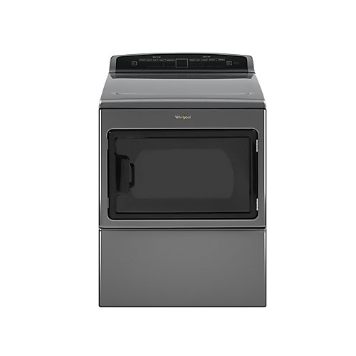 7.4 cu. ft. Large Capacity Front Load Electric Dryer in Chrome Shadow