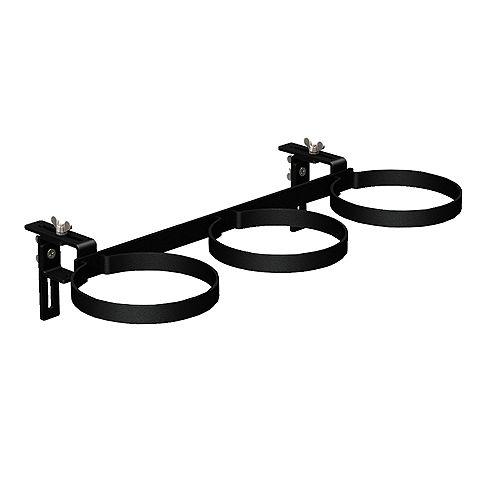 3-Ring Adjustable Railing Steel Pot Holder