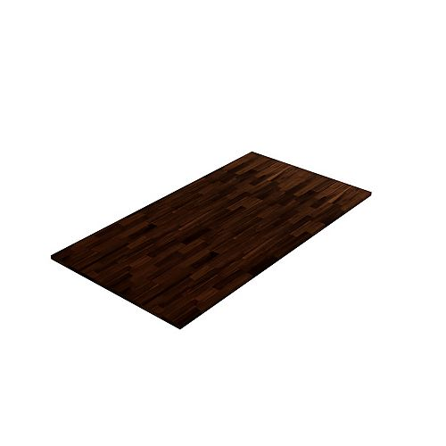 Acacia Hardwood Countetop, 74 inch x 36 inch x 1 inch, Espresso Acacia