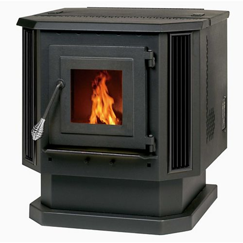 2,200 sq/ft Pellet Stove with Black Louvers