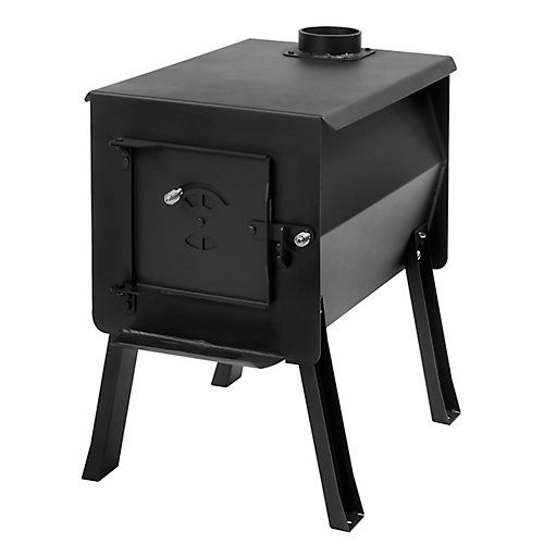 GRIZZLY - Portable Camp / Cook Wood Stove, 2.7 Cu. ft. Firebox