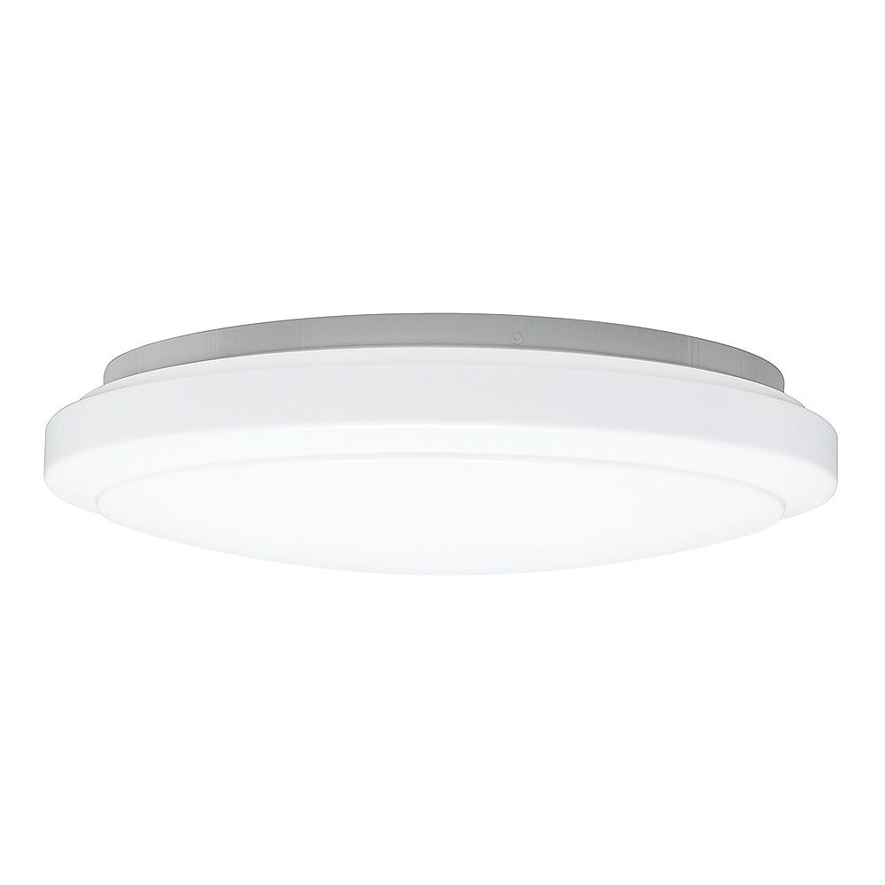 Hampton Bay 20 Inch White Round Led Flush Mount Ceiling Light 2200 Lumens Dimmable 4000k B The Home Depot Canada