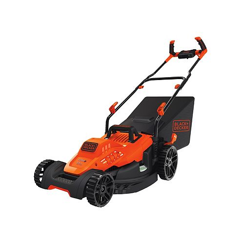 BLACK+DECKER 12 amp 17-inch Electric Lawn Mower with Comfort Grip Handle