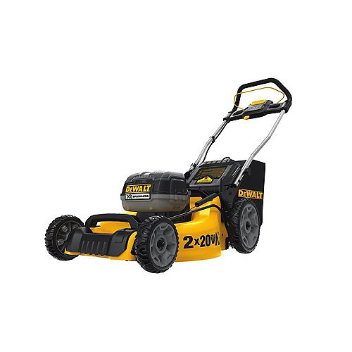 DEWALT 20-inch 20V MAX Lithium-Ion Cordless Walk Behind Push Lawn Mower with (2) 5.0Ah Batteries and Charger Included