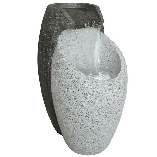 Outdoor Polyresin Fountain (Water Feature) With LED Light For Outdoor Decoration Cascading Fountain
