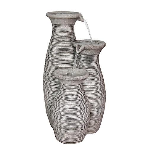Fontaine Extérieure En Polyrésine - Décoration Extérieure - Fontaine à 3 Vases