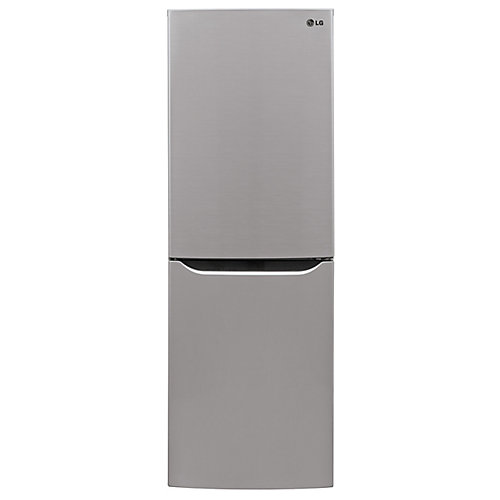 24-inch 10 cu. ft. Bottom Freezer Refrigerator with Multi-Air Flow, Counter Depth in Platinum Silver