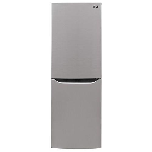 24-inch W 10 cu. ft. Bottom Freezer Refrigerator in Platinum Silver, Apartment-Size, Counter-Depth