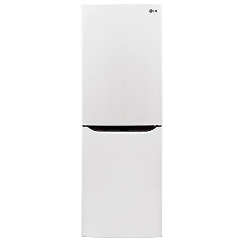 24-inch 10 cu. ft. Bottom Freezer Refrigerator with Multi-Air Flow, Counter Depth in White