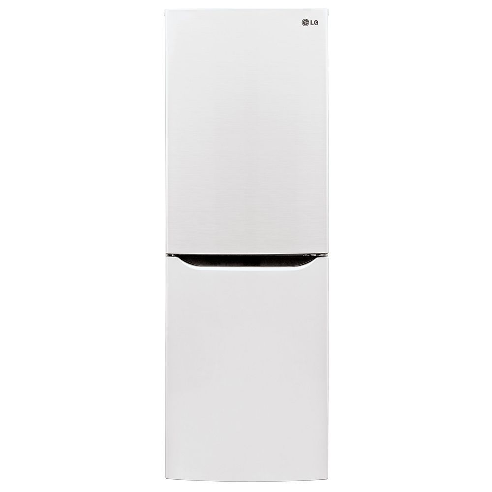 LG Electronics 24-inch W 10 cu. ft. Bottom Freezer Refrigerator in White, Apartment-Size, Counter-Depth
