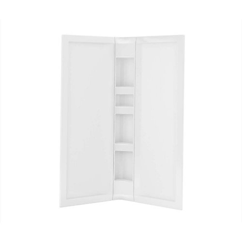 3-Piece Acrylic 40 inch x 40 inch x 75 3/4 inch Neo-Angle Shower Wall Kit in White