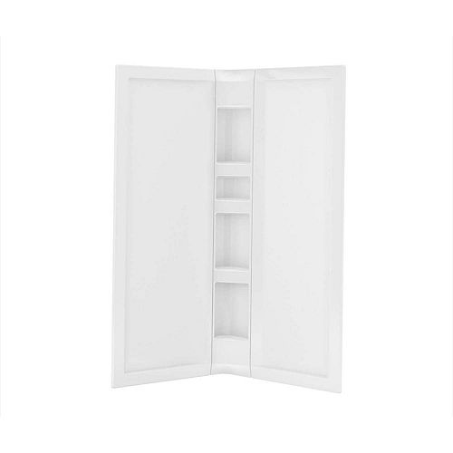 MAAX 3-Piece Acrylic 40 inch x 40 inch x 75 3/4 inch Neo-Angle Shower Wall Kit in White