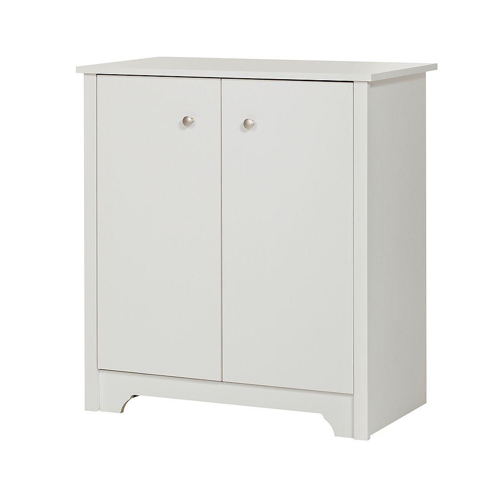 South Shore Vito Small 2-Door Storage Cabinet, Pure White