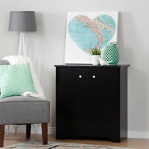 Vito Small 2-Door Storage Cabinet, Pure Black