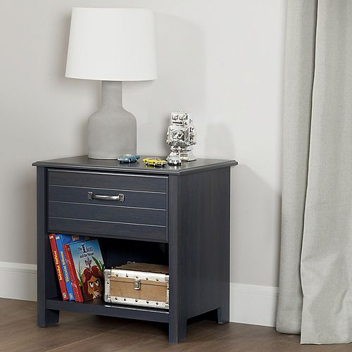 Ulysses 1-Drawer Nightstand, Blueberry