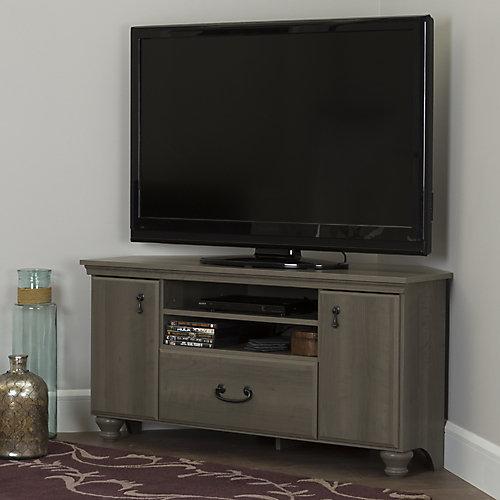 Meuble TV en coin pour TV jusqu'à 55'' Noble, Érable cendré