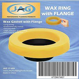 JAG pour les plombiers: Paquet de 12 joints de cire avec bride pour toilettes