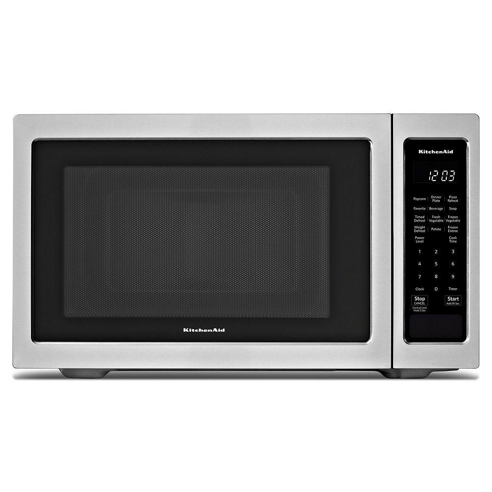KitchenAid Micro-ondes de comptoir de 1,6 pi3 en acier inoxydable