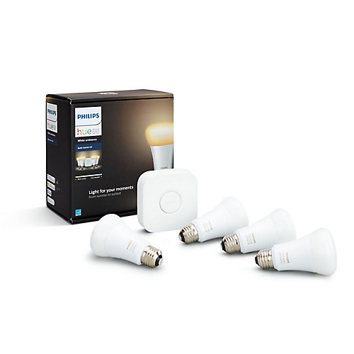 Philips Hue Ambiance A19 Starter Kit 4PC