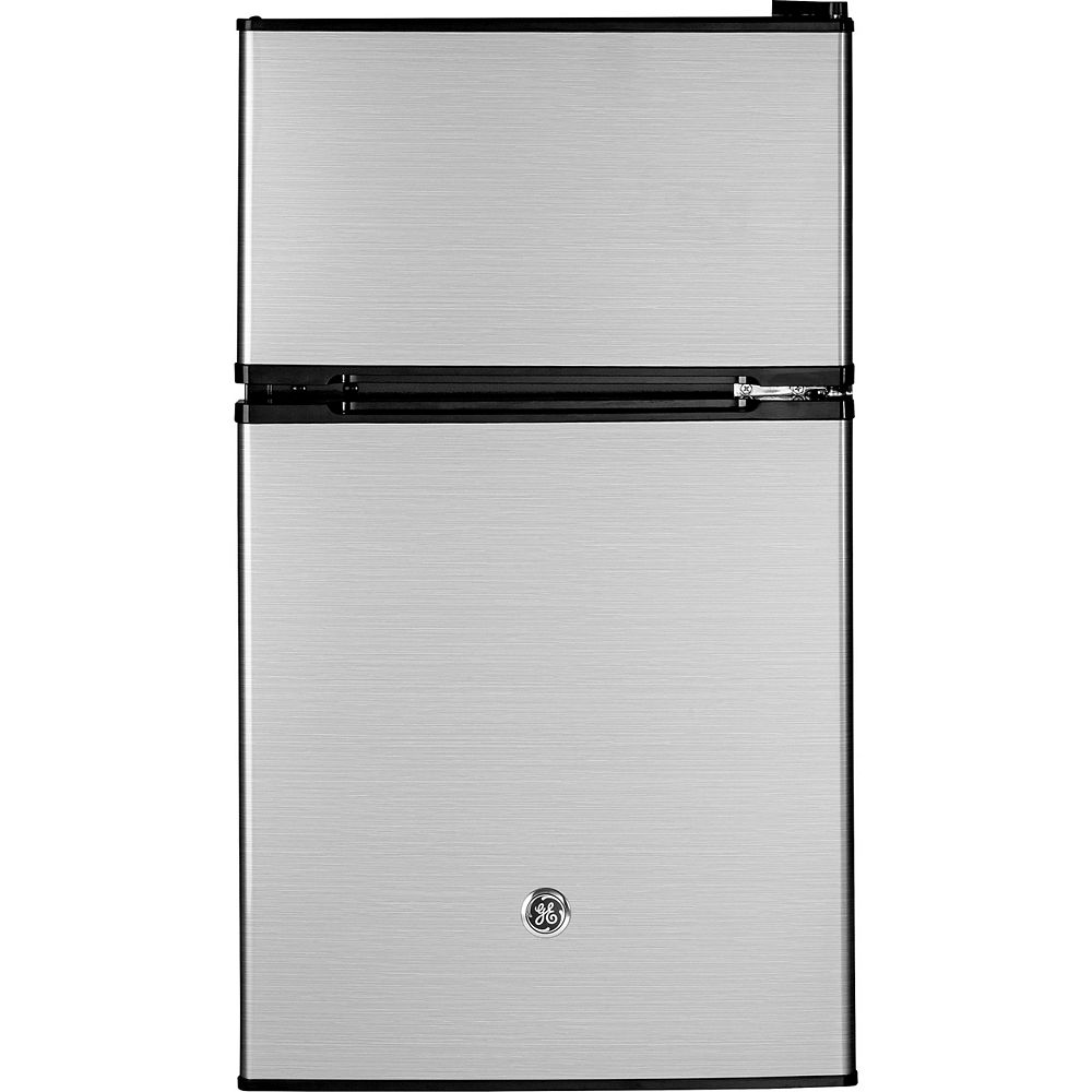 GE 18.75-inch W 3.1 Cu.ft. Compact Refrigerator in Stainless Steel, - ENERGY STAR®