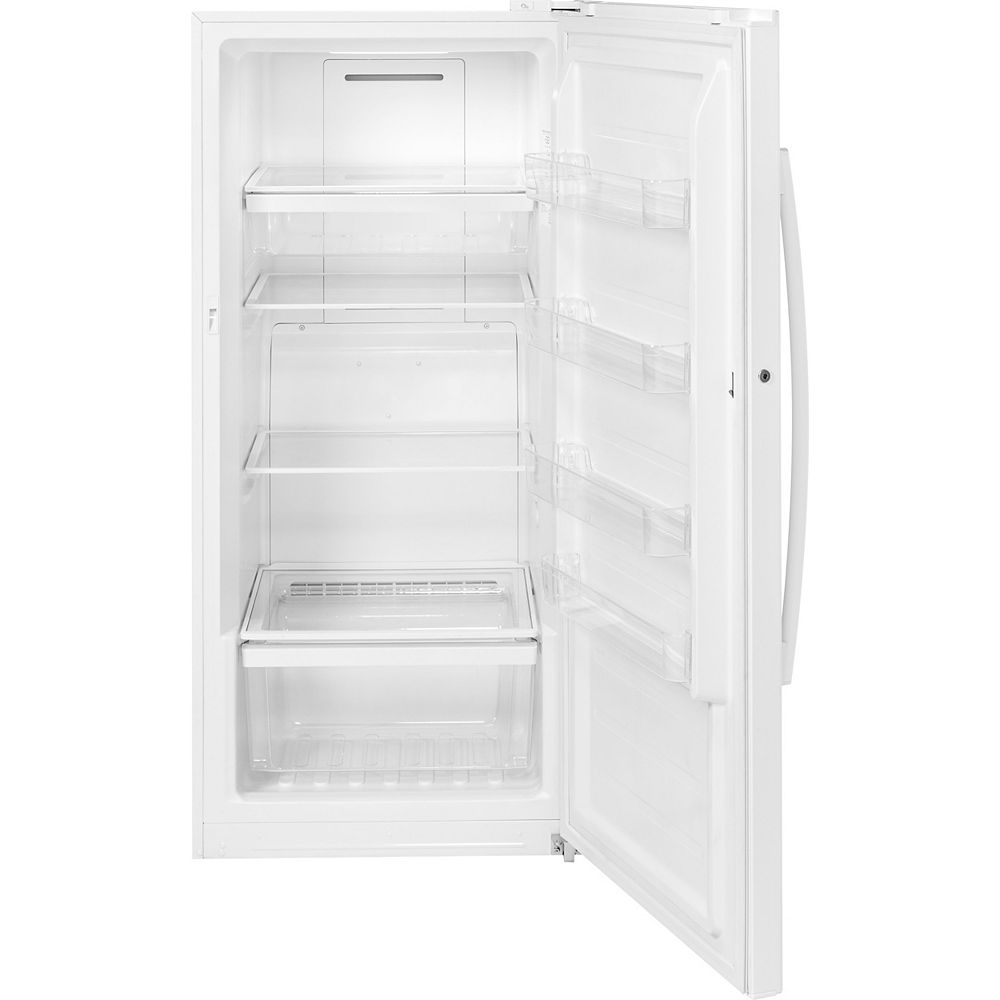 GE 14.1 cu. Ft. Frost-Free Upright Freezer in White - ENERGY STAR®